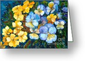 Most Painting Greeting Cards - Garden harmony Greeting Card by Zaira Dzhaubaeva