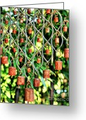 Chimes Greeting Cards - Garden Noah Bells Greeting Card by Cheryl Young