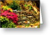 Johnny Trippick Greeting Cards - Garden of Rock Greeting Card by Johnny Trippick
