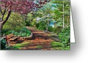 Dogwood Lake Greeting Cards - Garden of Serenity Greeting Card by Kenny Francis