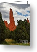 Garden Of The Gods Greeting Cards - Garden of the Gods - A breathtaking natural wonder Greeting Card by Christine Till