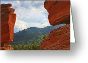 Geologic Formations Greeting Cards - Garden of the Gods - Colorado Springs Greeting Card by Christine Till