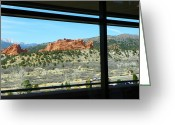 Trees Light Windows Greeting Cards - Garden of the Gods - Visitor Center Greeting Card by Lenore Senior
