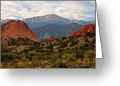 Colorado Mountains Greeting Cards - Garden of the Gods Greeting Card by Robert Pilkington