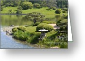 Hubert Greeting Cards - Garden of Three Islands Greeting Card by Julie Palencia