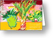 Free Style Greeting Cards - Garden Palm Greeting Card by Anita Dale Livaditis