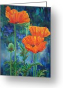 Gardens Greeting Cards - Garden Party Greeting Card by Billie Colson