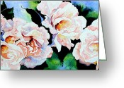 Canadian Prints Greeting Cards - Garden Roses Greeting Card by Hanne Lore Koehler