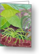 Happy Texas Artist Greeting Cards - Garden Scene 9-21-10 Greeting Card by Fred Jinkins