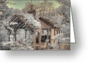 Missouri Photographer Greeting Cards - Garden Shed Greeting Card by Jane Linders
