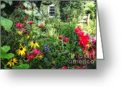 Colorful Roses Greeting Cards - Garden State Dream Garden Greeting Card by George Oze