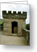 Hills Greeting Cards - Garden Terrace Turret - Ilam Hall Greeting Card by Rod Johnson