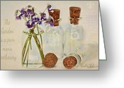 Topaz Greeting Cards - Gardening Note  Greeting Card by Sandra Rossouw
