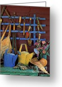 Glove Greeting Cards - Gardening Tools - FM000055a Greeting Card by Daniel Dempster
