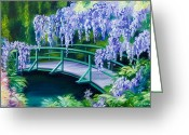 Abstract Realism Painting Greeting Cards - Gardens of Givernia II Greeting Card by James Christopher Hill