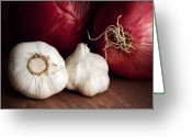 Flavoring Greeting Cards - Garlic and Onions Greeting Card by Tom Mc Nemar