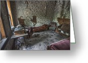 Missoula Greeting Cards - Garnet Ghost Town Hotel Parlor - Montana Greeting Card by Daniel Hagerman
