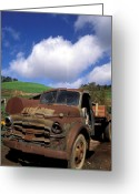 Landscape Greeting Cards Greeting Cards - Garrods Old Truck Greeting Card by Kathy Yates