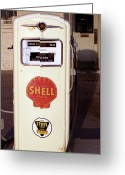 Grungy Greeting Cards - Gas Pump Greeting Card by Michael Peychich