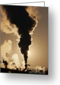 Soot Greeting Cards - Gaseous Air Pollution Greeting Card by Michal Boubin