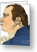 Cole Photo Greeting Cards - Gaspard Monge, French Mathematician Greeting Card by Science Source