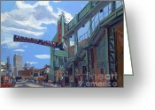 Green Monster Greeting Cards - Gate C Greeting Card by Deb Putnam