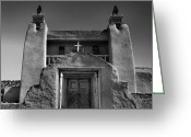 Adobe Architecture Greeting Cards - Gate to San Jose de Gracia Greeting Card by Steven Ainsworth