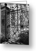 Cemetery Gate Greeting Cards - Gate To St. Michaels Greeting Card by Steven Ainsworth