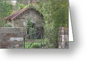 Carversville Greeting Cards - Gatehouse Greeting Card by Pat Colucci