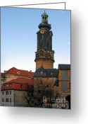 Weimar Greeting Cards - Gatehouse Weimar City Palace Greeting Card by Christine Till