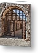 Entryway Greeting Cards - Gateway To The Unknown Greeting Card by Sandra Bronstein