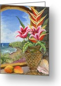 Mango Greeting Cards - Gathered Beauty Greeting Card by Trister Hosang