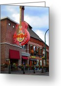 Amplifier Greeting Cards - Gatlinburg Hard Rock Cafe Greeting Card by Robert Harmon