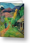 Gauguin Greeting Cards - GAUGUIN TAHITI 19th CENTURY Greeting Card by Granger
