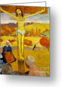 Gauguin; Paul (1848-1903) Greeting Cards - Gauguin The Cross Greeting Card by Pg Reproductions