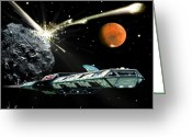 Astronomical Digital Art Greeting Cards - Gauntlet Greeting Card by Bill Wright
