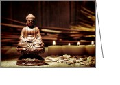 Sacred Photo Greeting Cards - Gautama Buddha Greeting Card by Olivier Le Queinec