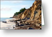 Santa Barbara Digital Art Greeting Cards - Gaviota Greeting Card by Kurt Van Wagner