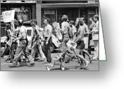 Gay Rights Greeting Cards - Gay Rights March, 1976 Greeting Card by Granger