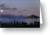 Gloaming Greeting Cards - Gazebo at Twilight Greeting Card by Scott Glancy