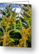 Gaze Mixed Media Greeting Cards - Gazebo Gazing Greeting Card by Kristin Elmquist