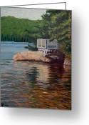 The Cape Greeting Cards - Gazebo on Thompson Lake  Greeting Card by Jeff Toole