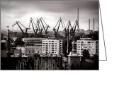 Apartment Greeting Cards - Gdansk Shipyard Greeting Card by Olivier Le Queinec