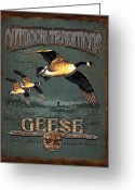 Goose Greeting Cards - Geese Traditions Greeting Card by JQ Licensing