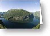 Most Greeting Cards - Geiranger Fjord, Norway Greeting Card by Dr Juerg Alean