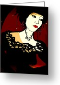 Maiko Greeting Cards - Geisha 1 Greeting Card by Natalie Holland
