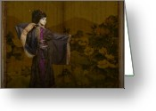 Ceremony Greeting Cards - Geisha 2 Greeting Card by Jeff Burgess