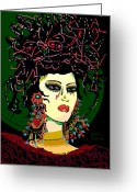Maiko Greeting Cards - Geisha 6 Greeting Card by Natalie Holland