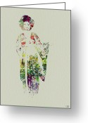 Geisha Greeting Cards - Geisha Greeting Card by Irina  March