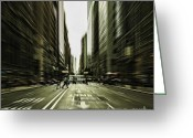 Manhattan Sunset Greeting Cards - Gelati Rush Greeting Card by Andrew Paranavitana
